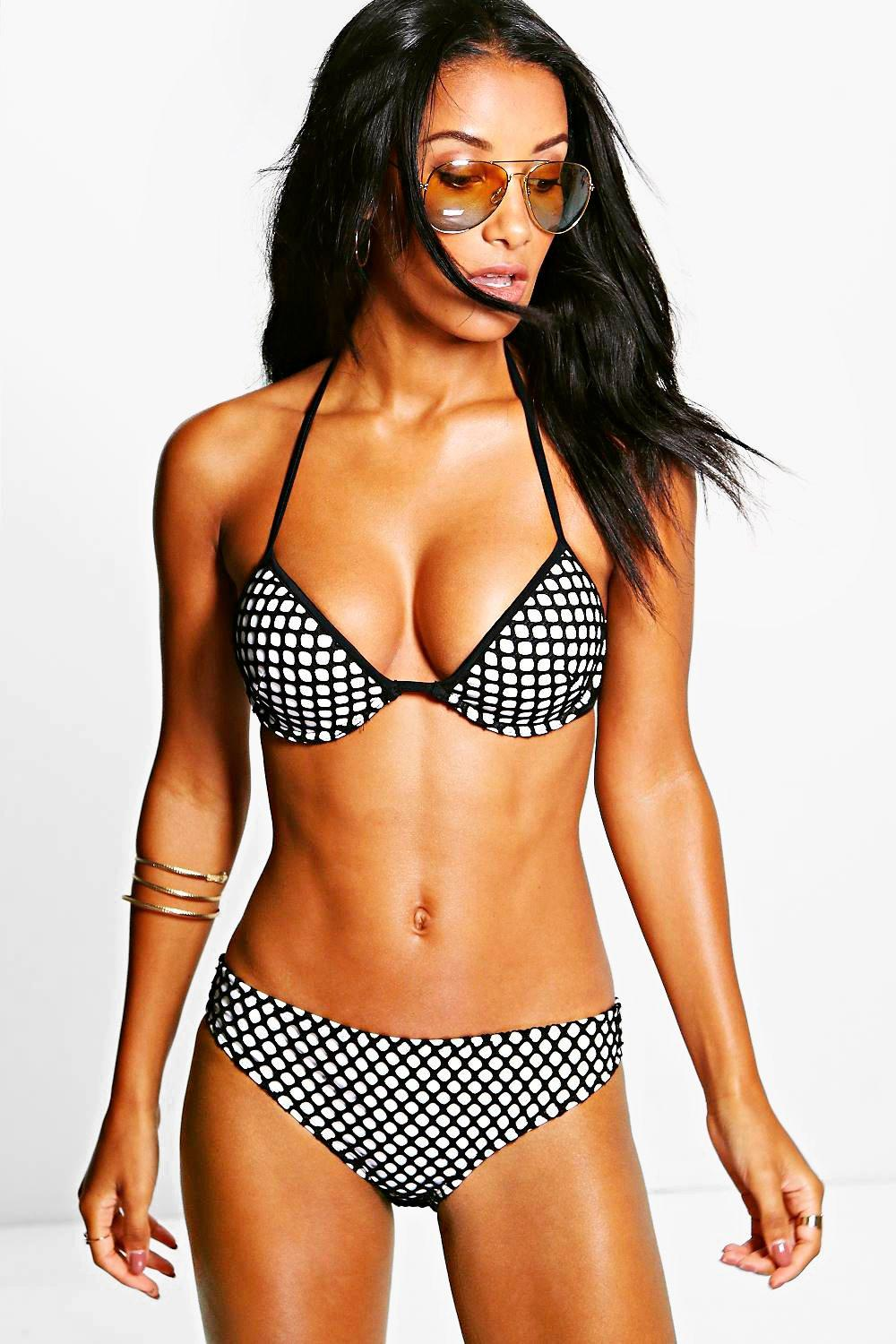 San Jose Net Colour Block Underwired Bikini