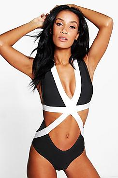 Peru Boutique Bandage Mono Swimsuit