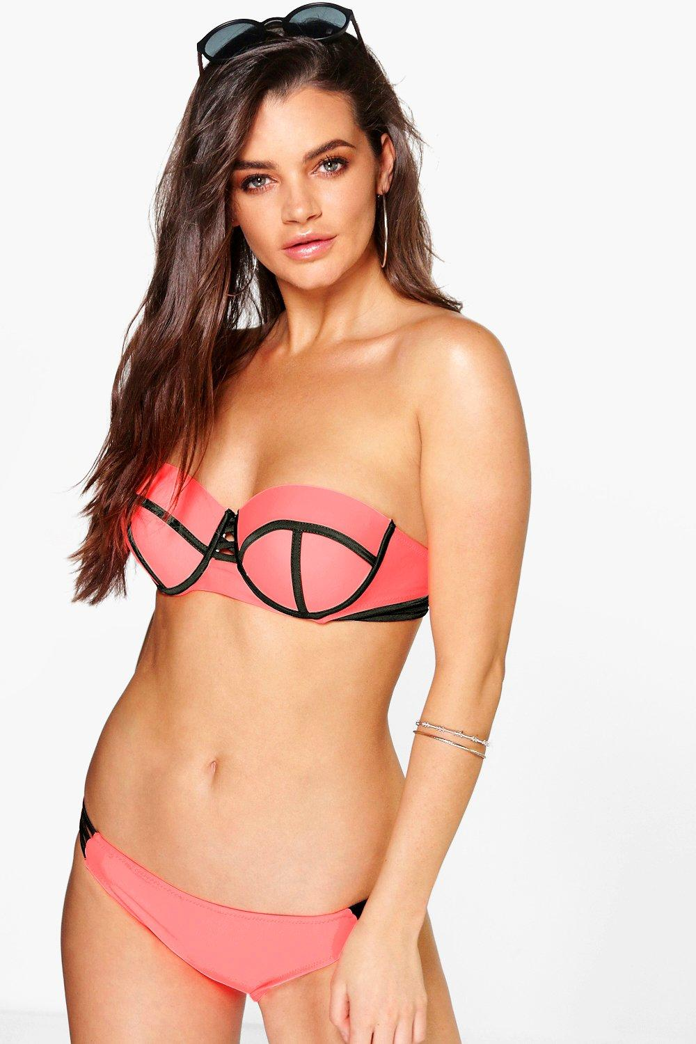 Chile Colour Block Strappy Underwired Bikini Set