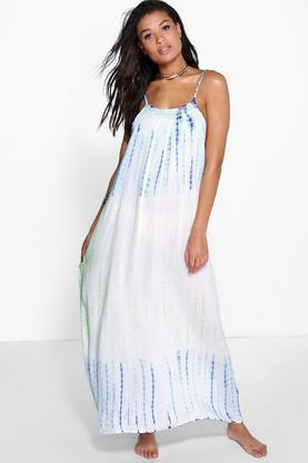 Freya Tie Dye Embellished Maxi Beach Dress