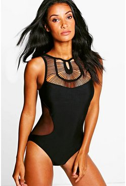 Milan Crochet Mesh Swimsuit