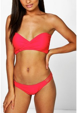 Rome Mix and Match Wrap Front Bikini Top