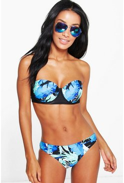 Florence Layered Leaf Underwired Bandeau Bikini
