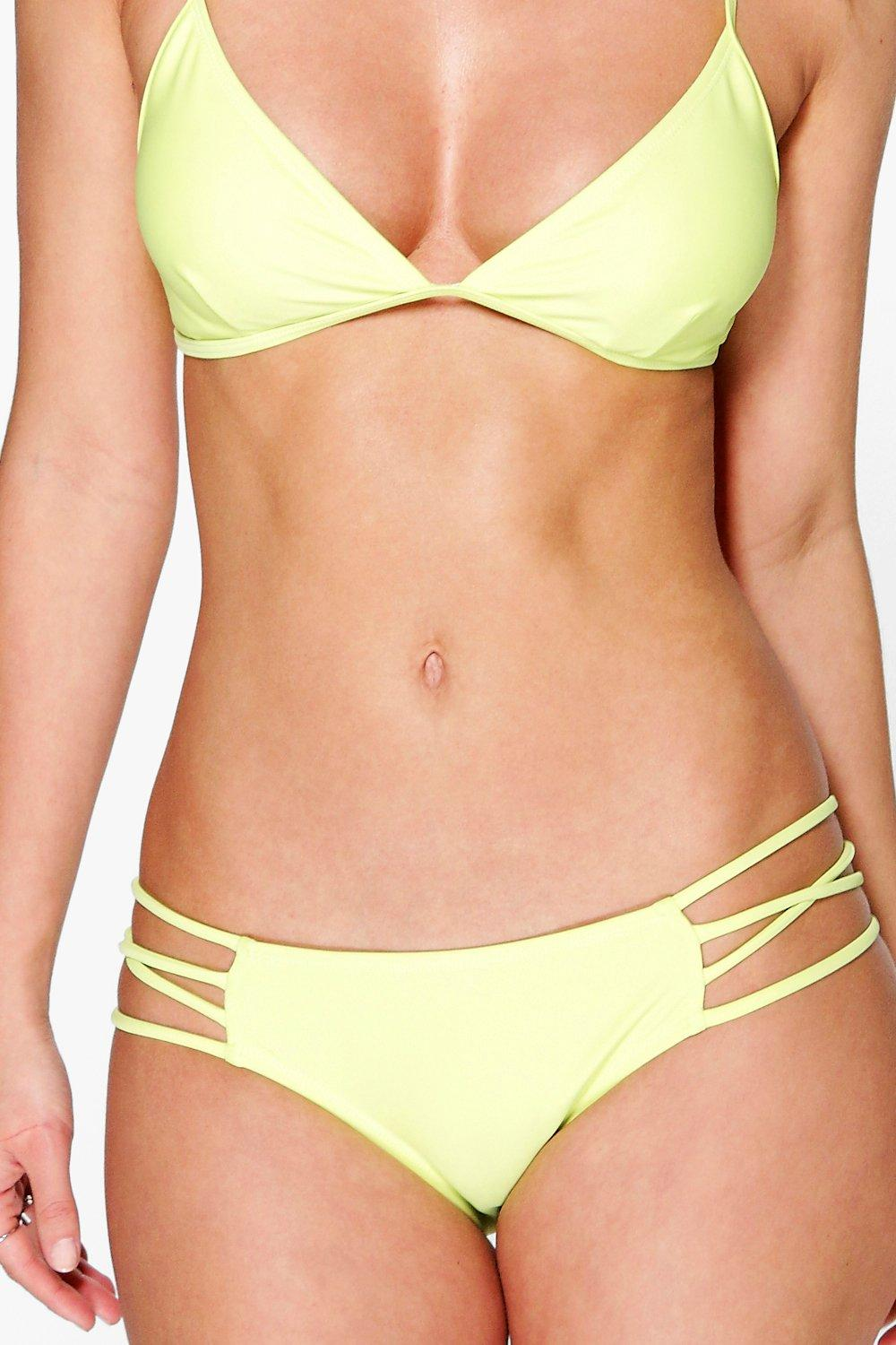 Mix And Match Strappy Bikini Brief lime