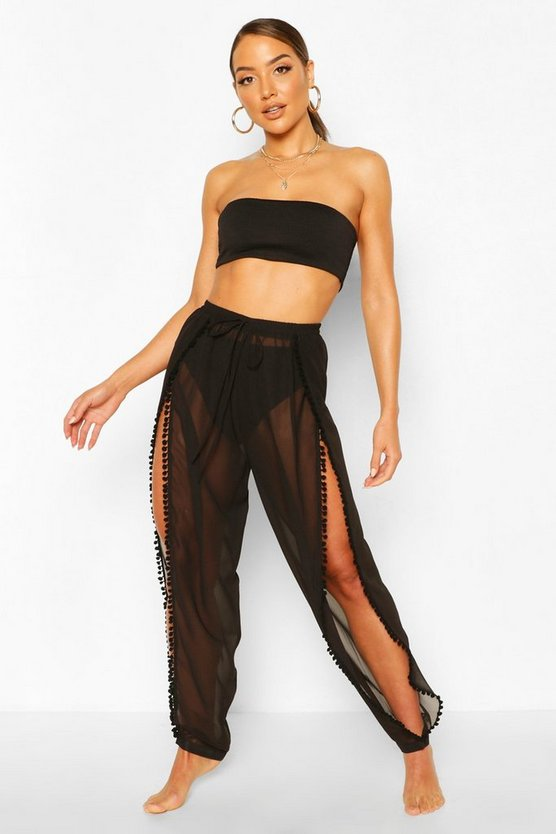 Faith Pom Pom Split Beach Trouser