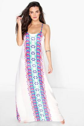Megan Checkerboard Maxi Dress