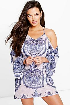 Alice China Paisley Print Dress