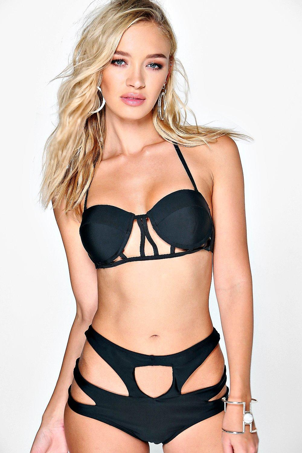 India Cage High Waisted Cut Out Bikini