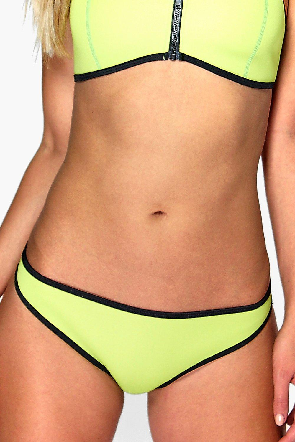 Product photo of Neoprene mix and match contrast brief lime