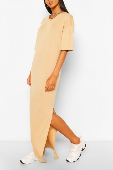 Taupe Tall Scoop Neck Maxi T-Shirt Dress