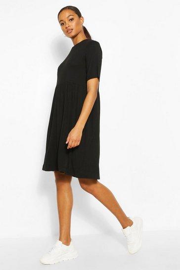 Black Tall Jersey Smock Dress