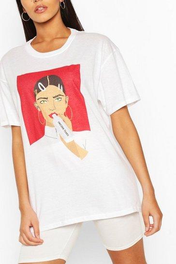 White Tall 'Unicorn Tears' T-Shirt