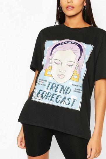 Black Tall 'Trend Forecast' T-Shirt