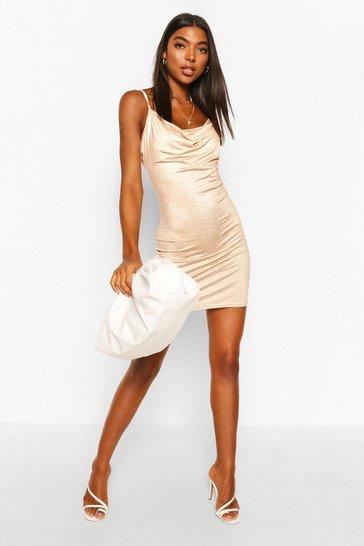 Brown Tall Slinky Leopard Print Dress