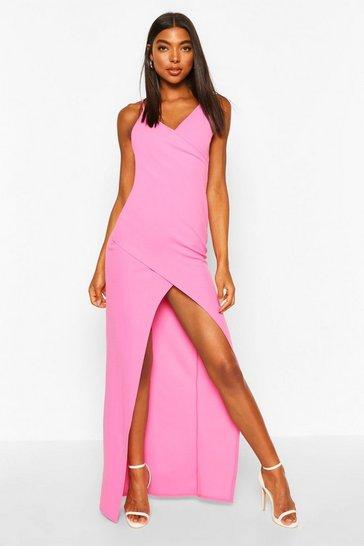 Hot pink Tall Wrap Maxi Dress