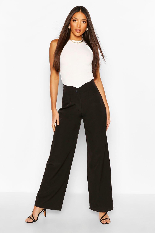Из коллекции «Tall»— Тканые широкие брюки со складками фото