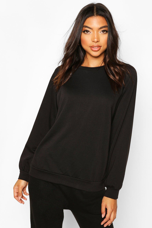 Womens Tall Sweatshirt - Schwarz - 38, Schwarz - Boohoo.com