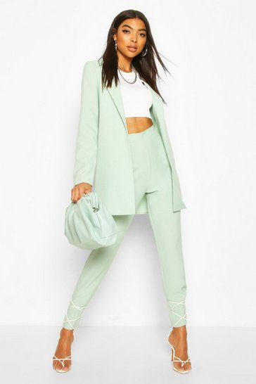 Mint Tall Ankle Grazer Woven Trousers