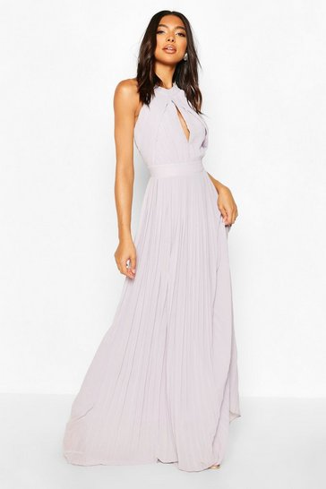 Grey Tall Halterneck Maxi Dress