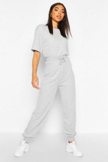 Grey Tall Sweat Lounge Jumpsuit