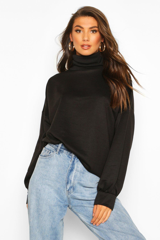 Womens Tall Hochgeschlossenes Sweatshirt - schwarz - 32, Schwarz - Boohoo.com