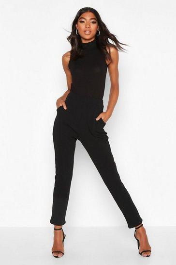 Black Tall Basic Stretch Skinny Trousers