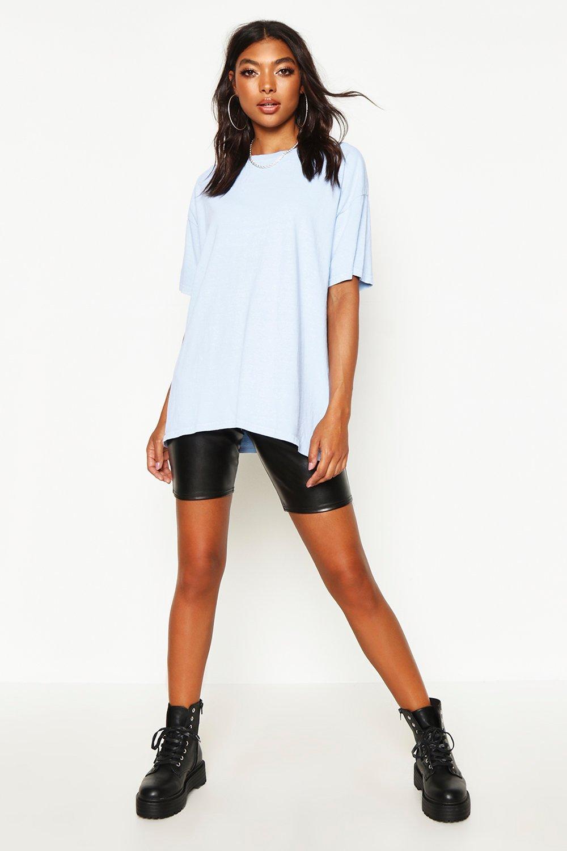 Womens Tall Oversized T-Shirt mit Vintage-Waschung - Blau - S, Blau - Boohoo.com