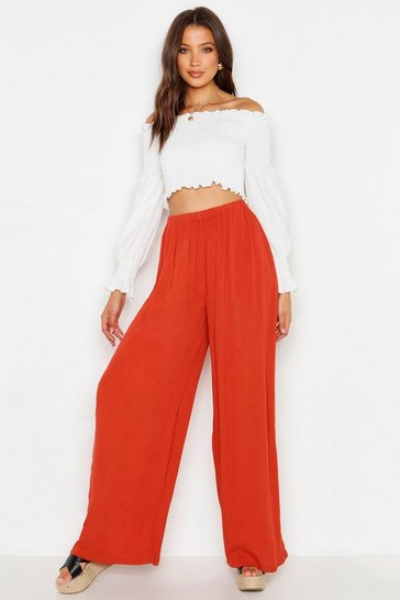 Spice Tall Cheesecloth Wide Leg Trouser