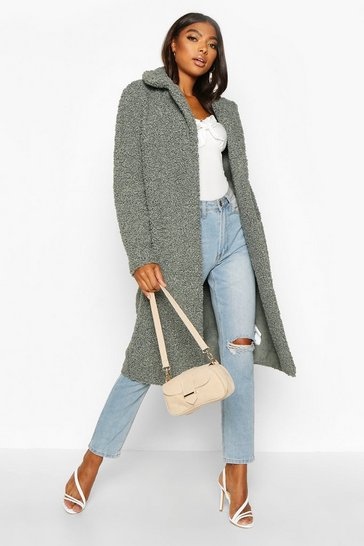 Sage Tall Teddy Faux Fur Coat