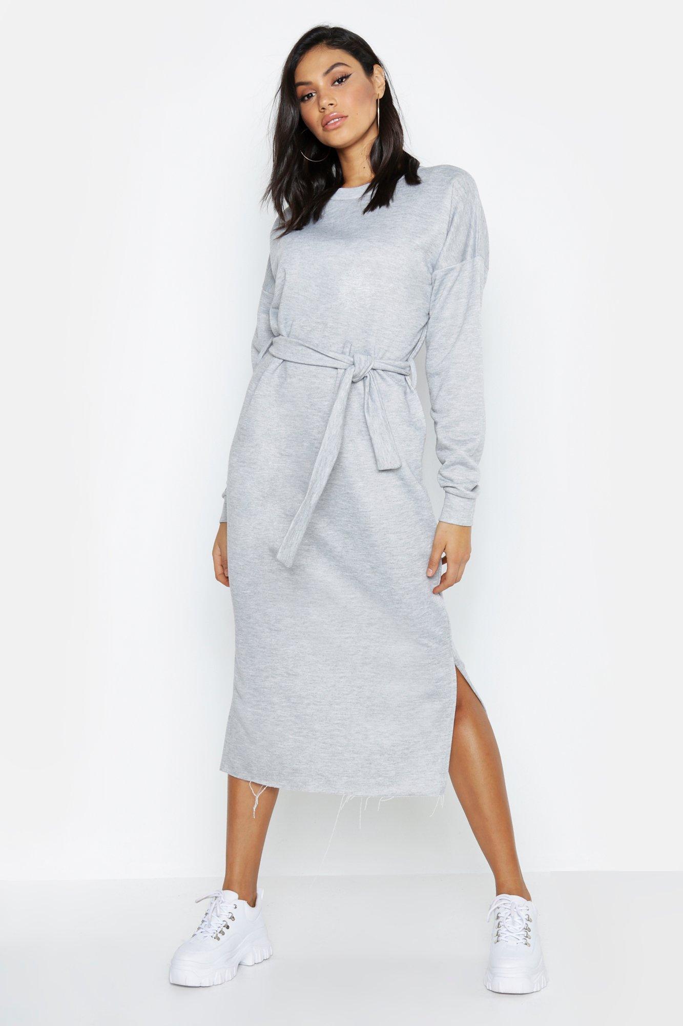 Купить К нам поступают платья, Из коллекции <Tall> Спортивное платье миди с поясом, boohoo