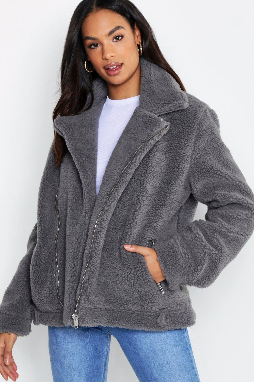 Купить Пальто и куртки, Tall - Teddy очки-авиаторы из искусственного меха, boohoo