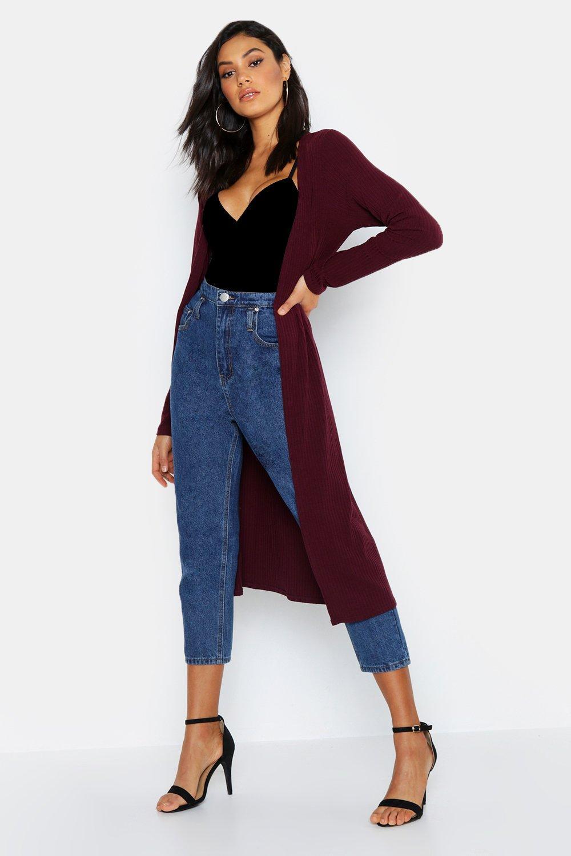 Купить Coats & Jackets, Tall - Duster в рубчик с завязками на талии, boohoo