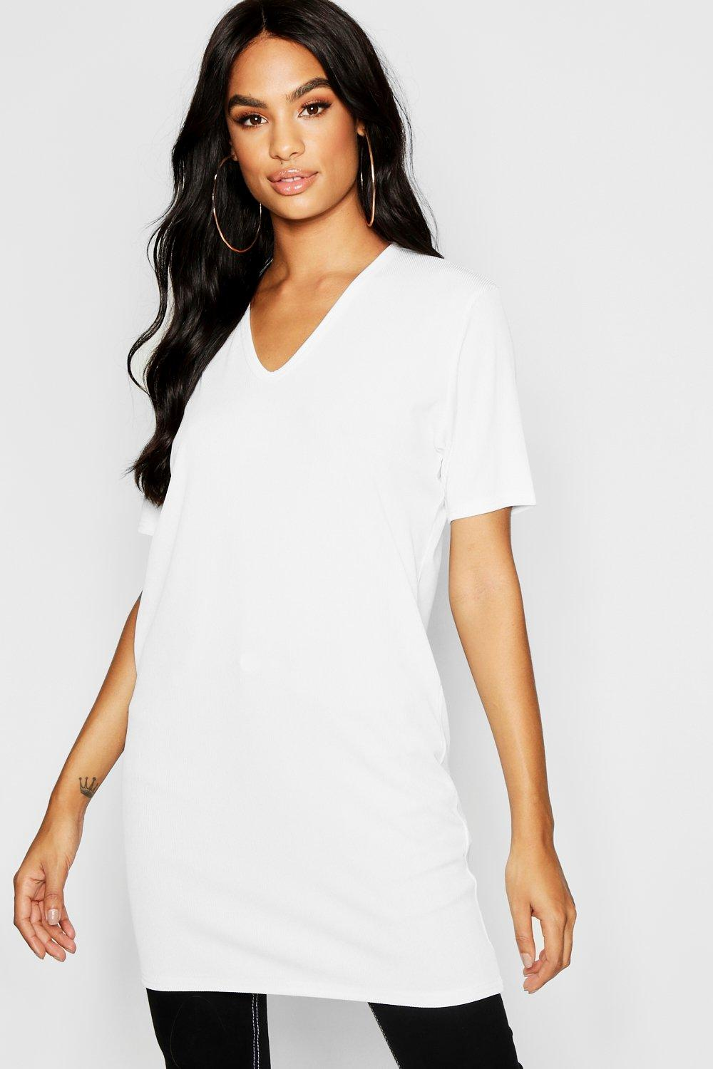 Tall V Ribbed Tee