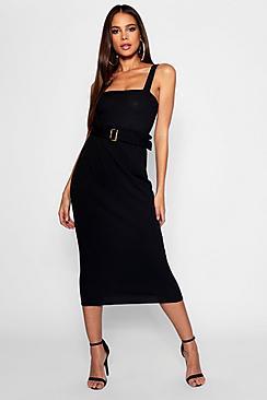 Tall Midi-Röcke mit Gürtel und Paperbag-Taille - Boohoo.com