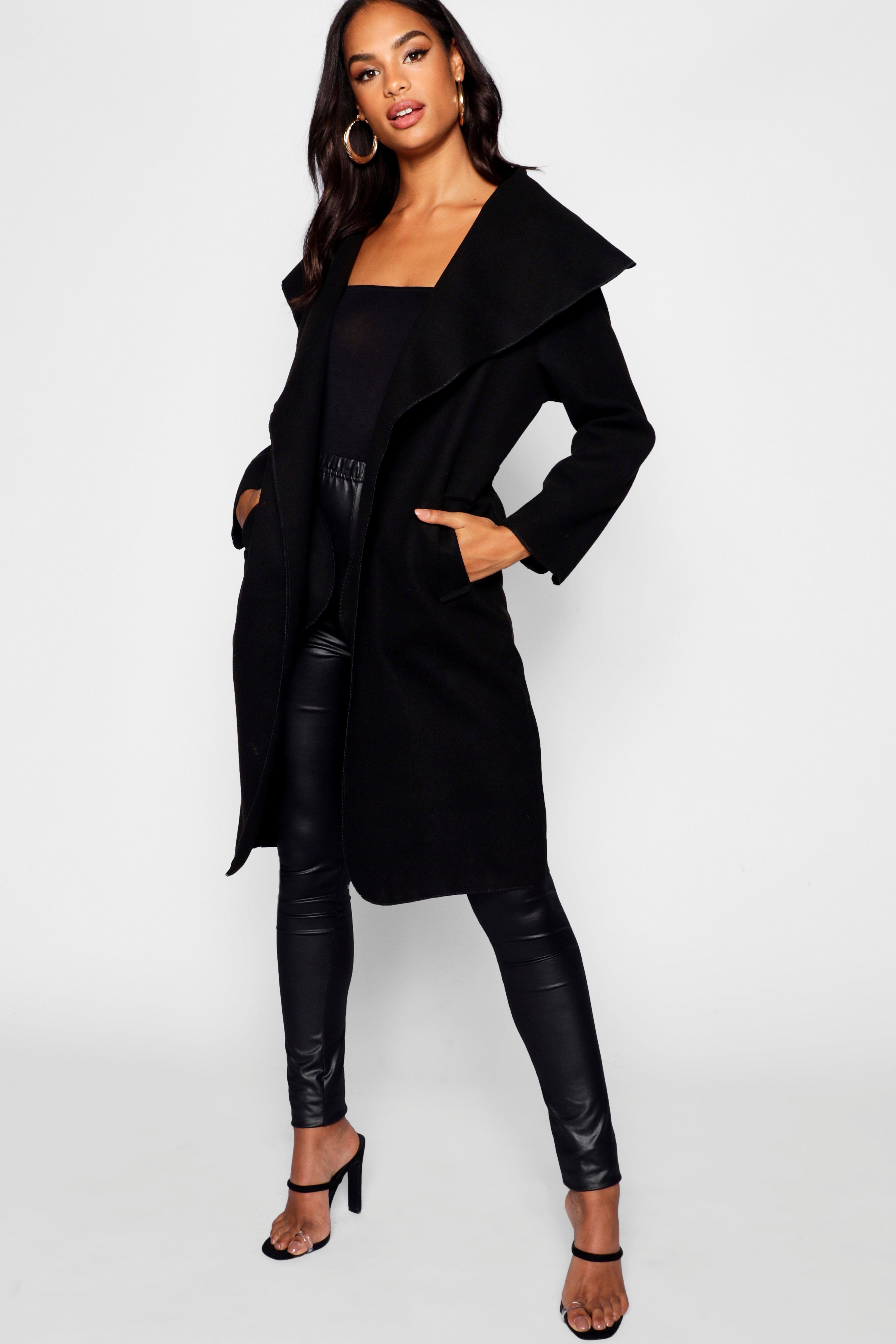 Купить Coats & Jackets, Короткое пальто с воротником-шалью из коллекции <Tall>, boohoo