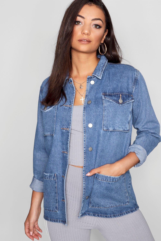 Купить Coats & Jackets, Джинсовая рубашка-жакет свободного размера из коллекции <Tall>, boohoo