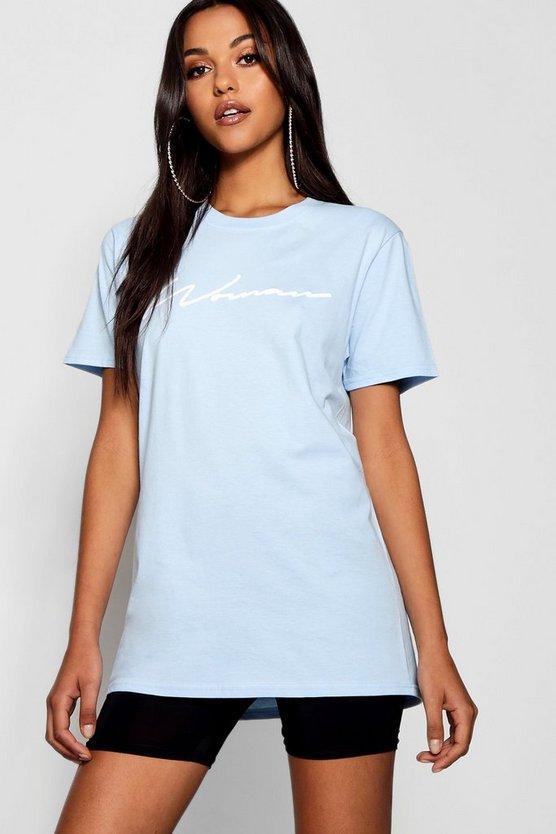 Tall Sasha Woman Slogan T Shirt by Boohoo