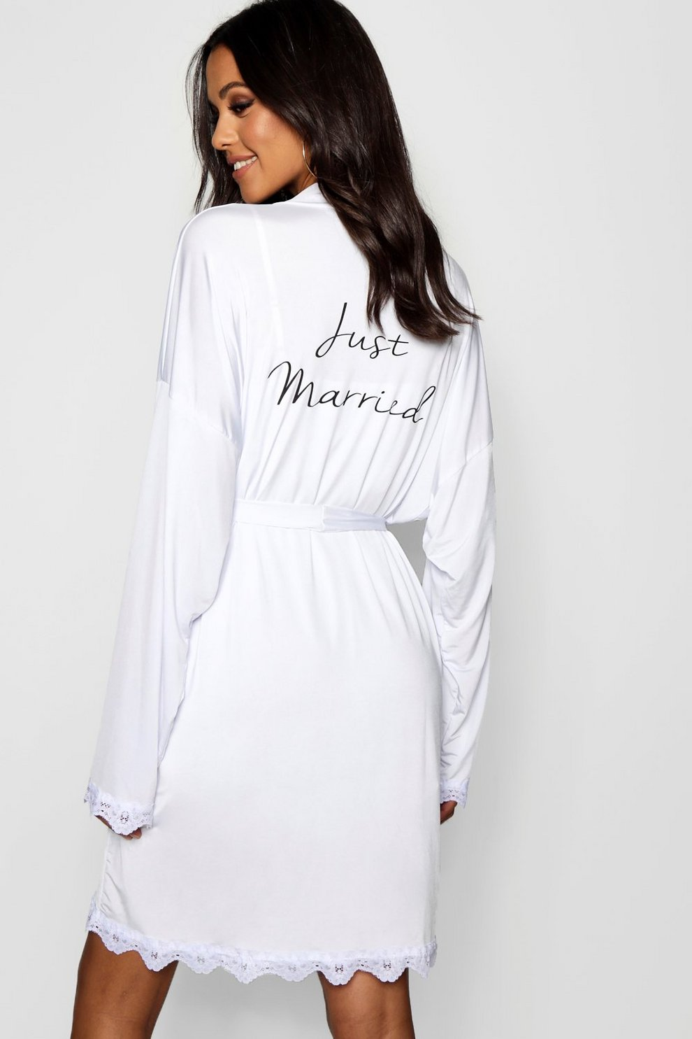 Tall Just Married Bridal Dressing Gown | Boohoo