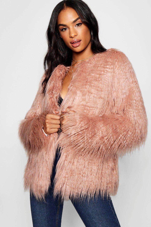 Купить Coats & Jackets, Пальто из искусственного монгольского меха из коллекции <Tall>, boohoo