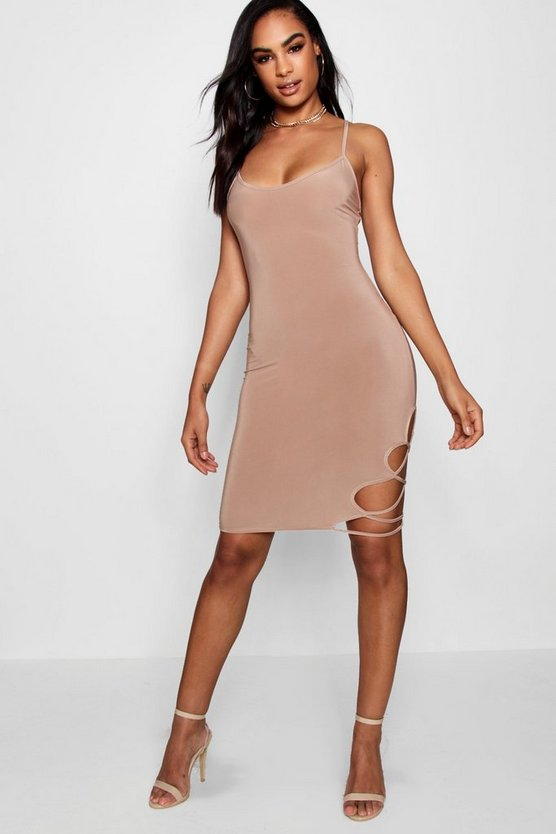 Tall Eliza Strappy Side Mini Dress