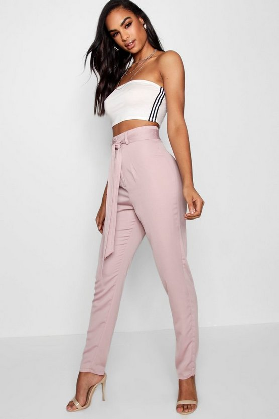 Tall Sasha Belted Woven Trousers