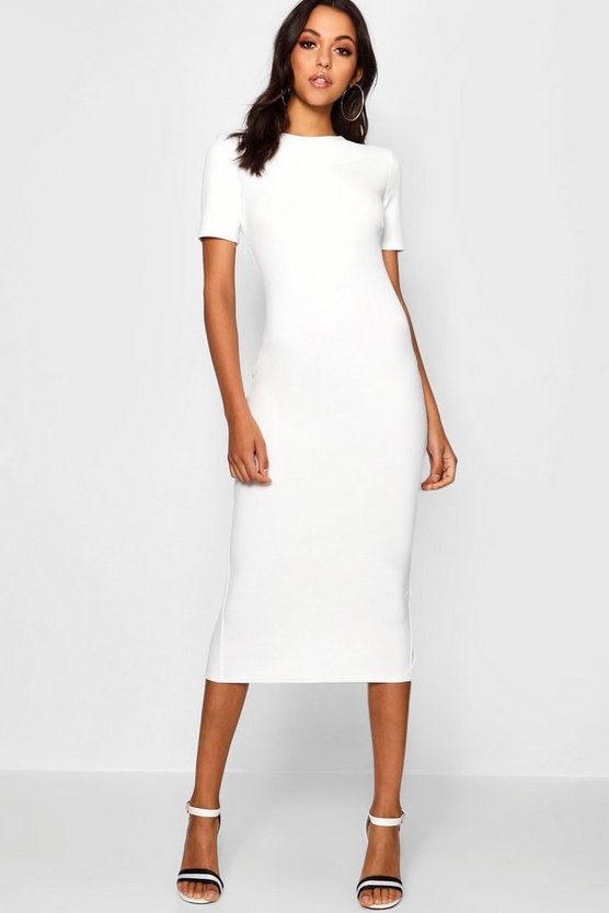 Tall Short Sleeve Tailored Midi Dress