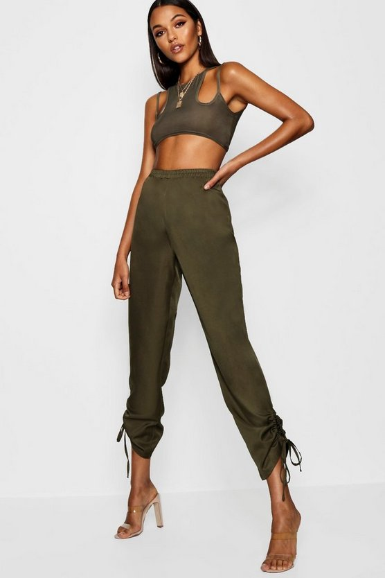 Tall Ruched Side Cargo Trousers