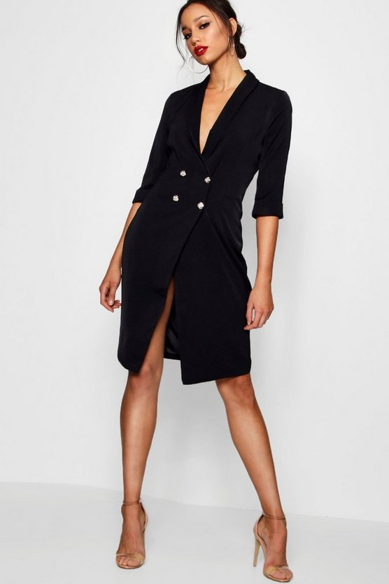 Tall Jade Double Breasted Blazer Dress