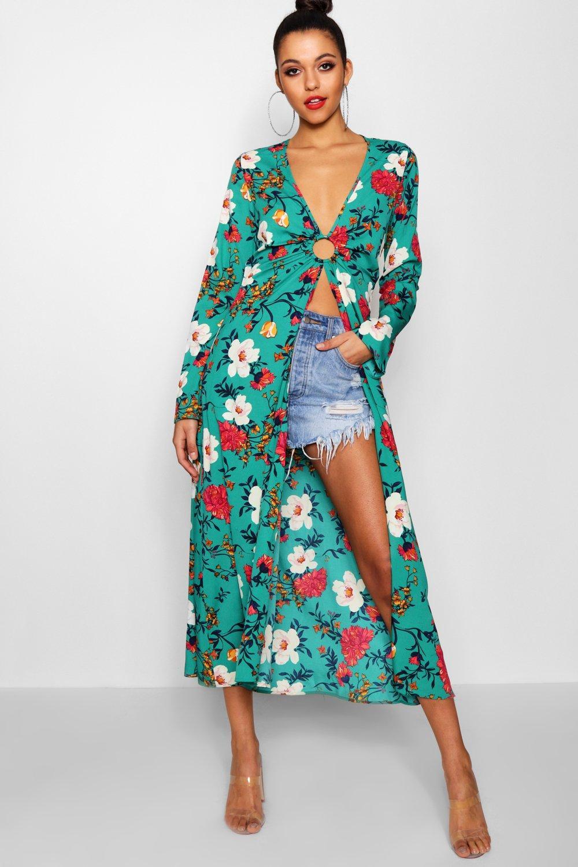 Купить Tops, Макси-топ в стиле кимоно с цветочным рисунком из коллекции <Tall>, boohoo