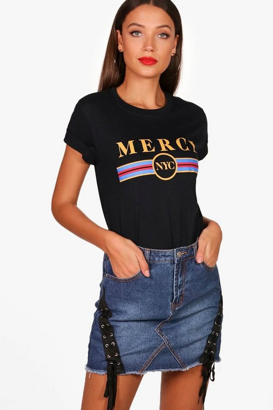 Tall Daisy Merci Slogan Tee