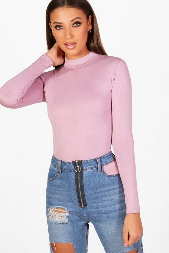Tall Lucy Turtle Neck Long Sleeve Bodysuit