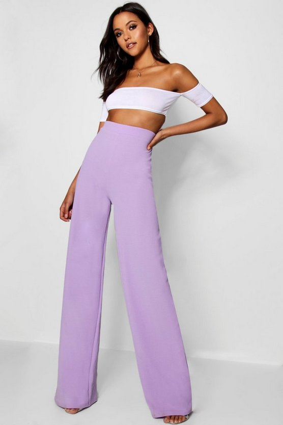 Tall Emma Wide Leg Pleat Front Trousers by Boohoo