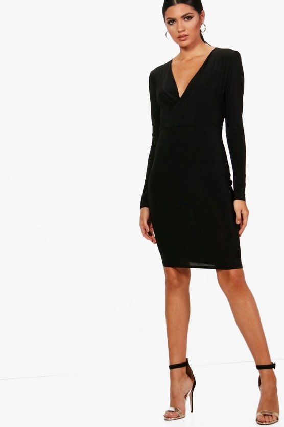 Tall Plunge Slinky Bodycon Dress