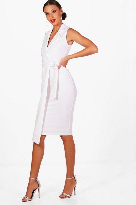 Tall Nina Sleeveless Blazer Dress